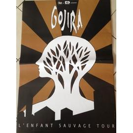 GOJIRA - L'enfant Sauvage Tour - AFFICHE MUSIQUE / CONCERT / POSTER