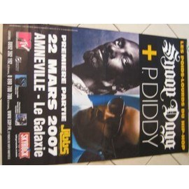 SNOOP DOGG - P.DIDDY - AFFICHE MUSIQUE / CONCERT / POSTER