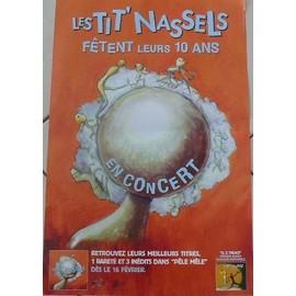 Les Tit' Nassels - AFFICHE MUSIQUE / CONCERT / POSTER