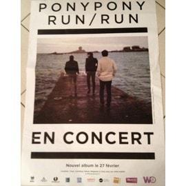 Pony Pony Run Run  - En Concert - AFFICHE MUSIQUE / CONCERT / POSTER