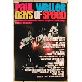 Weller Paul - Days Of Speed - AFFICHE MUSIQUE / CONCERT / POSTER