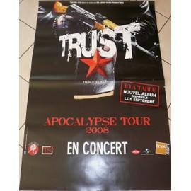 TRUST - Apocalyspse Tour - AFFICHE MUSIQUE / CONCERT / POSTER