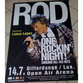 Rod Stewart - 2009 - AFFICHE MUSIQUE / CONCERT / POSTER