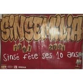 Sinsemilia - Fêtes ses 10 ans - AFFICHE MUSIQUE / CONCERT / POSTER