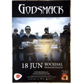 Godsmack - 2015 - AFFICHE MUSIQUE / CONCERT / POSTER