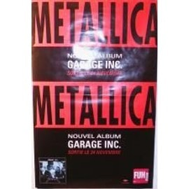 Metallica - garage inc - AFFICHE MUSIQUE / CONCERT / POSTER