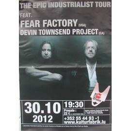 Fear Factory - Devin Townsend Project - AFFICHE MUSIQUE / CONCERT / POSTER