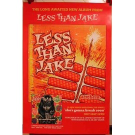 LESS THAN JAKE - AFFICHE MUSIQUE / CONCERT / POSTER