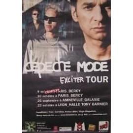 Depeche Mode - Exciter Tour - AFFICHE MUSIQUE / CONCERT / POSTER