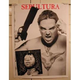 Sepultura - Verso Satriani - AFFICHE MUSIQUE / CONCERT / POSTER