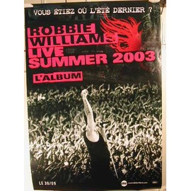 Williams Robbie - 2004 - AFFICHE MUSIQUE / CONCERT / POSTER