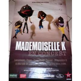 Mademoiselle K - AFFICHE MUSIQUE / CONCERT / POSTER