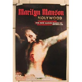 Manson Marilyn - Holywood Double Face - AFFICHE MUSIQUE / CONCERT / POSTER