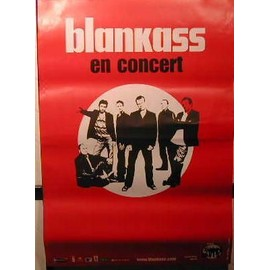 BLANKASS - Rouge - AFFICHE MUSIQUE / CONCERT / POSTER