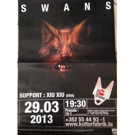 Swans - AFFICHE MUSIQUE / CONCERT / POSTER