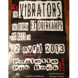THE VIBRATORS - AFFICHE MUSIQUE / CONCERT / POSTER