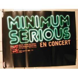 Minimum Serious - AFFICHE MUSIQUE / CONCERT / POSTER