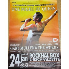One Night Of QUEEN - AFFICHE MUSIQUE / CONCERT / POSTER