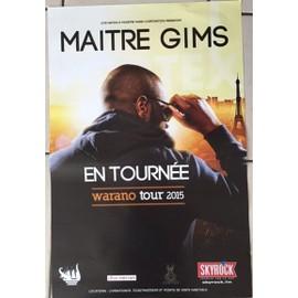 Maitre Gims - Warano Tour - AFFICHE MUSIQUE / CONCERT / POSTER