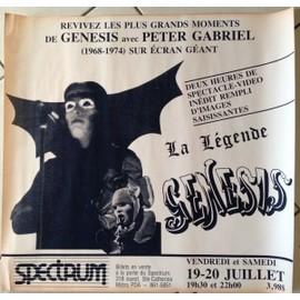Genesis - Peter Gabriel - AFFICHE MUSIQUE / CONCERT / POSTER