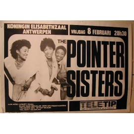 The Pointer Sisters - AFFICHE MUSIQUE / CONCERT / POSTER