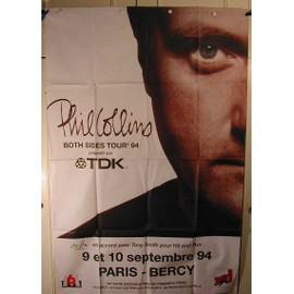 Collins Phil - affiche pliée - AFFICHE MUSIQUE / CONCERT / POSTER