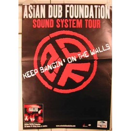 Asian Dub Foundation - AFFICHE MUSIQUE / CONCERT / POSTER