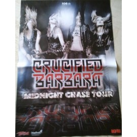 Crucified Barbara - Midnight Chase Tour - AFFICHE MUSIQUE / CONCERT / POSTER