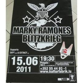 MARKY RAMONES BLITZKRIEG - AFFICHE MUSIQUE / CONCERT / POSTER