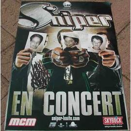 Sniper - AFFICHE MUSIQUE / CONCERT / POSTER