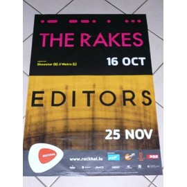 EDITORS - The RAKES - AFFICHE MUSIQUE / CONCERT / POSTER