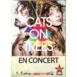 Cats On Trees - AFFICHE MUSIQUE / CONCERT / POSTER