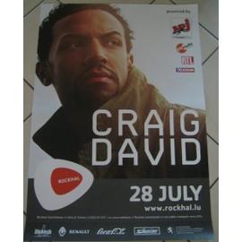 Craig David - AFFICHE MUSIQUE / CONCERT / POSTER