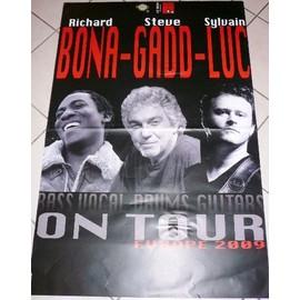 Richard BONA - Sylvain LUC - Steven GADD - AFFICHE MUSIQUE / CONCERT / POSTER