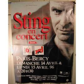 Sting - affiche pliée - AFFICHE MUSIQUE / CONCERT / POSTER