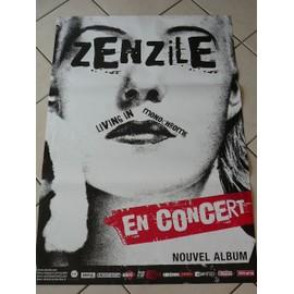 ZENZILE - Living In Monochrome - AFFICHE MUSIQUE / CONCERT / POSTER