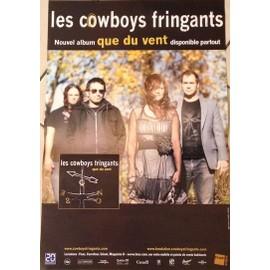 Les Cowboys Fringants - Que Du Vent - AFFICHE MUSIQUE / CONCERT / POSTER