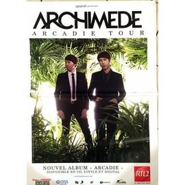 Archimede - Arcadie Tour - AFFICHE MUSIQUE / CONCERT / POSTER