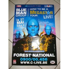 BLUE MAN Goup - AFFICHE MUSIQUE / CONCERT / POSTER