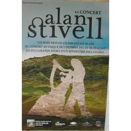 Alan STIVELL - AFFICHE MUSIQUE / CONCERT / POSTER