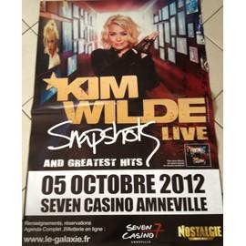 Kim WILDE - Snapshot - 2012 - AFFICHE MUSIQUE / CONCERT / POSTER