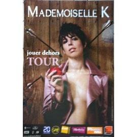 Mademoiselle K - Jouer Dehors - AFFICHE MUSIQUE / CONCERT / POSTER