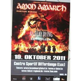 Amon Amarth - Septic Flesh - AFFICHE MUSIQUE / CONCERT / POSTER