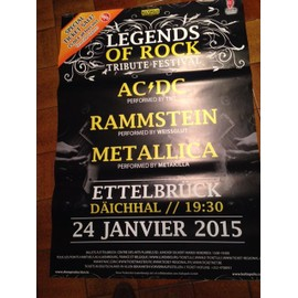 Legends Of Rock - Ac/dc - Metallica - AFFICHE MUSIQUE / CONCERT / POSTER
