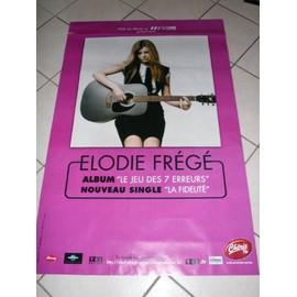 Elodie Fregé - AFFICHE MUSIQUE / CONCERT / POSTER
