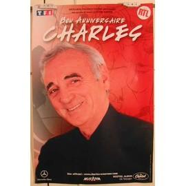 Aznavour Charles - Anniversaire - AFFICHE MUSIQUE / CONCERT / POSTER