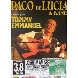 Paco De Lucia - Tommy Emmanuel - AFFICHE MUSIQUE / CONCERT / POSTER