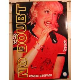 No Doubt - Gwen Stefani - AFFICHE MUSIQUE / CONCERT / POSTER