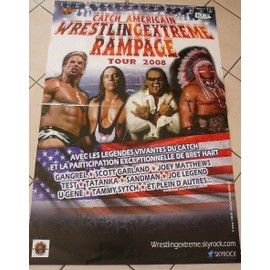 CATCH - wrestling Rampage - 2008 - AFFICHE MUSIQUE / CONCERT / POSTER