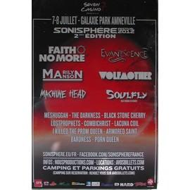 Faith No More - Evanescence - AFFICHE MUSIQUE / CONCERT / POSTER
